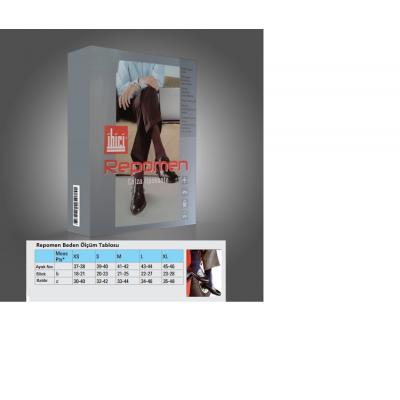 İbici Repomen 16-20 mmHg Varis Çorabı XLarge No 45-46 Siyah