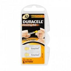 Duracell Activair 10 İşitme Cihazı Pilleri 6 lı 1.4V