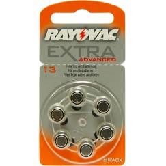 Extra Advanced 13 İşitme Cihazı Pilleri 6 lı 1.4V