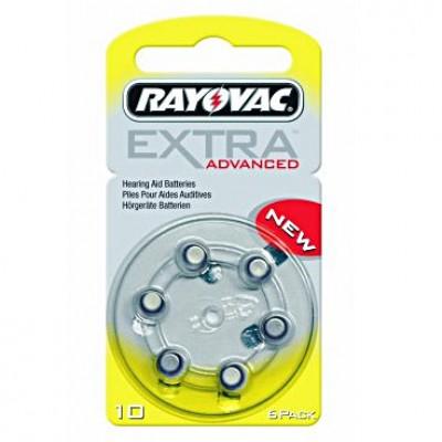 Extra Advanced 10 İşitme Cihazı Pilleri 6 lı 1.4V