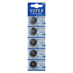 Supex CR 2032 Pil 5 li Paket
