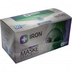 Iron Maske 3 Katlı Lastikli 50 'lik - 1 kutu
