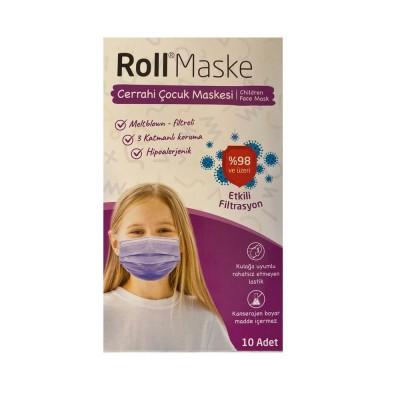 Roll Kız Çocuk Maskesi 10 Lu Paket